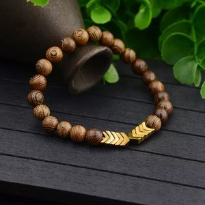 Firm Price NWT Arrow Wooden Beads Energy bracelet